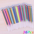 36 Colors Flash Gel Pen Highlighter Refill Full Shinning Refill for Painting