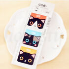 3/6pcs Cat Kawaii Kitty House Adhesive Sticky Notes Memo Pad Stationery Bookmark