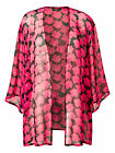 New Ladies LabelBe Plus Size Sheer Black and Pink Floral Kimono - Size 24 & 32