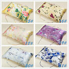 100% Floral Silk Pillow Towel  Pillow Cover PIllowcase Fit Queen Standard King