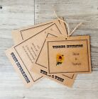 Personalised Vintage Sunflower Wedding Invitations + RSVP + Envelopes