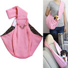 Dog Cat Sling Carrier Bag Reversible Pet Travel Tote Double-sided Pouch EB1