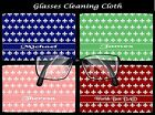 PERSONALISED FLEUR DE LIS GLASSES/SPECTACLES CLEANING CLOTH MUM DAD NAN BIRTHDAY
