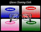 PERSONALISED INFINITY DOTS GLASSES/SPECTACLES CLEANING CLOTH MUM DAD BIRTHDAY