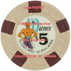 """THE DUNES 1st Las Vegas = POSTER Not Gambling Chip CHOOSE FROM 7 SIZES 19"""" - 36"""""""