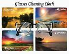 PERSONALISED GLASSES CLEANING CLOTH BEAUTIFUL SUNSETS IDEAL GIFT XMAS BIRTHDAY
