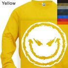 LONG SLEEVE T-SHIRT GRAPHIC TEE   SMILING FACE - #157   S to 4X PLUS)