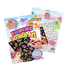 Unicorn Kids Drawing Scratch Art Colouring Rainbow Stencil Book Tool Play Paper