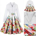 Womens Vintage Floral 50's 60's Rockabilly Pinup Dress Retro Swing Party Dress
