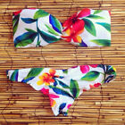 NEW WOMEN'S SWIMWEAR SEXY BIKINI 2017 BANDEAU TOP & BOTTOM FLORAL WHITE BLUE USA