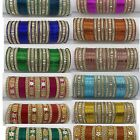 PACK OF 48 METAL  INDIAN BANGLES CHURI BOLLYWOOD JEWELLERY BRIDAL SET