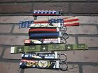 Handmade personalized wristlet keychain Military, Police, Fire fighter, US Flag
