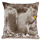 "18"" Squirrel Printed Cushion Cover and Hollowfibre Inner Pillow Home Sofa Décor"