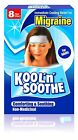 Kool 'n' Soothe Migraine Soft Gel Sheets Headache Pain Relief Cooling Strips NEW