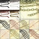 2/4M Iron Cable Chain Unfinished Chains 0.9x3/3.7x2.55/6.85x5mm Jewelry Making