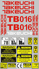Decal Sticker set for TAKEUCHI TB016 TB015 TB014 Mini Digger Bagger Pelle