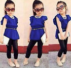 Girl Short Sleeve T-shirt+Pants Set Clothes 2-8T Great Modern Cotton Children