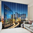 3D City Buildings Blockout Photo Curtain Printing Curtains Drapes Fabric Window