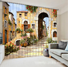 3D Town Flowers 06 Blockout Photo Curtain Printing Curtains Drapes Fabric Window