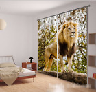 3D Tree Lion 73 Blockout Photo Curtain Printing Curtains Drapes Fabric Window AU