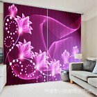 3D Flash Flower Blockout Photo Curtain Printing Curtains Drapes Fabric Window AU