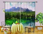 3D Lake Forest Blockout Photo Curtain Printing Curtains Drapes Fabric Window AU