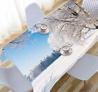 3D Snow Forest 31 Tablecloth Table Cover Cloth Birthday Party Event AJ WALLPAPER