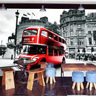 3D Red London Bus 643 WallPaper Murals Wall Print Decal Wall Deco AJ WALLPAPER
