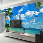 3D Palm beach 684 WallPaper Murals Wall Print Decal Wall Deco AJ WALLPAPER