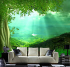 3D Hillside trees 1 Paper Murals Wall Print Decal Wall Deco AJ WALLPAPER