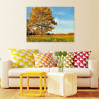 3D Grassland, yellow tree Wall Stickers Vinyl Wall Murals Print Decal AJSTORE US