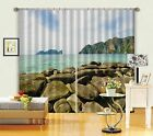 3D Stone Shore0560 Blockout Photo Curtain Print Curtains Drapes Fabric Window UK
