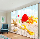3D Beach Shells362 Blockout Photo Curtain Print Curtains Drapes Fabric Window UK