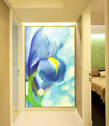 3D Blue Orchid 1 WallPaper Murals Wall Print Decal Wall Deco AJ WALLPAPER