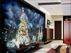 3D Christmas snowy 1 WallPaper Murals Wall Print Decal Wall Deco AJ WALLPAPER