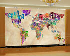 3D Color text map 835 WallPaper Murals Wall Print Decal Wall Deco AJ WALLPAPER