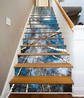 3D Tall Bare Trees Stairs Risers Decoration Photo Mural Vinyl Decal Wallpaper US