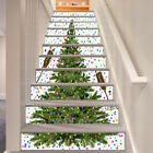 3D Christmas tree stairs Risers Trim Photo Mural Vinyl Decal Wallpaper US