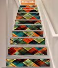 3D Color Twill 289 Stairs Risers Decoration Photo Mural Vinyl Decal Wallpaper US