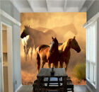 3D Ranch Cheval 45 Photo Papier Peint en Autocollant Murale Plafond Chambre Art