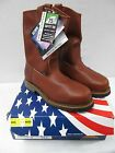 Thorogood American Heritage Brown Safety Toe Slip On Work Boots 804 4822