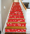 3D Christmas snow red Risers Colours Photo Mural Vinyl Decal Wallpaper CA