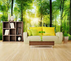 3D Forest Sunshine 1 Wall Paper Wall Print Decal Wall Deco Indoor Wall Murals