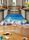 3D Rolling Wave Beach Floor WallPaper Murals Wall Print Decal 5D AJ WALLPAPER