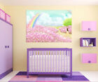 3D Rainbow Flower Sky  Wall Stickers Vinyl Murals Wall Print Decal  Art AJ STORE