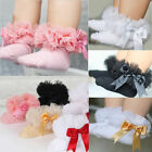 Sweet Baby Girls Kids Princess Bowknot Lace Ruffle Frilly Trim Ankle Socks 0-6Y