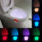 2× Toilet Motion Sensor Automatic LED Ball Bathroom NightLight Lamp Body Sensing