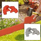 10 Pack Cobbled Stone Effect Lawn Plant Garden Hammer-In Plastic Edging Border