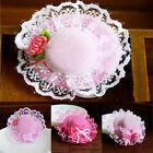 Dog Puppy Teddy Cap Lace Handmade Floral Hat Embroidery Clip Accessories