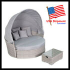 NEW- Outdoor Patio Rattan Sofa Siesta Daybed Sun Bed Wicker Furniture Round Mix